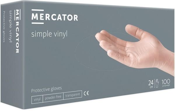 Mănuși de protecție transparente, din vinil, 100 bucati/cutie