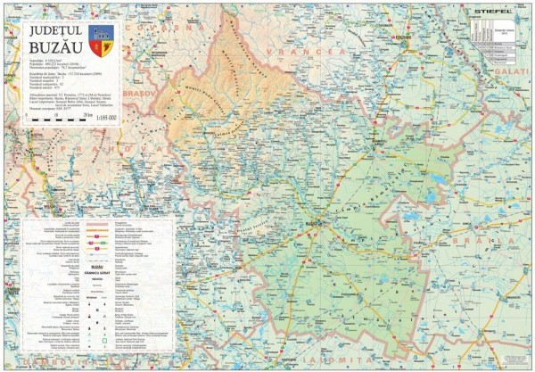 Harta - judeţul BUZĂU