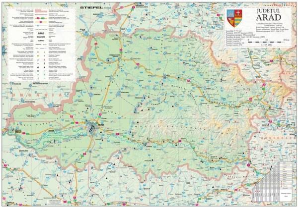 Harta - judeţul ARAD