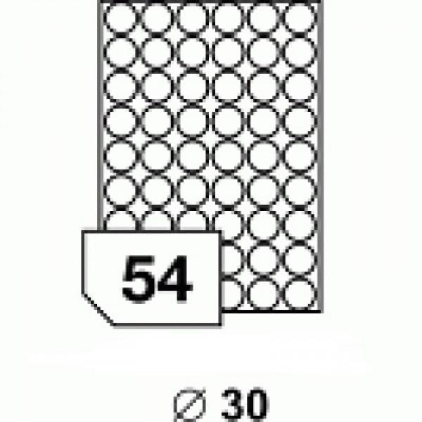 Etichete rotunde 30 mm
