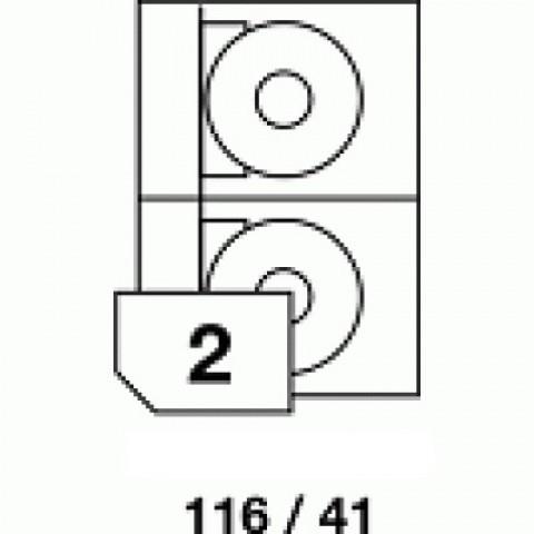 Etichete autoadezive pentru CD, dimensiune 116x41 mm