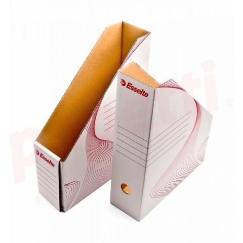 Suport vertical documente carton alb, Esselte