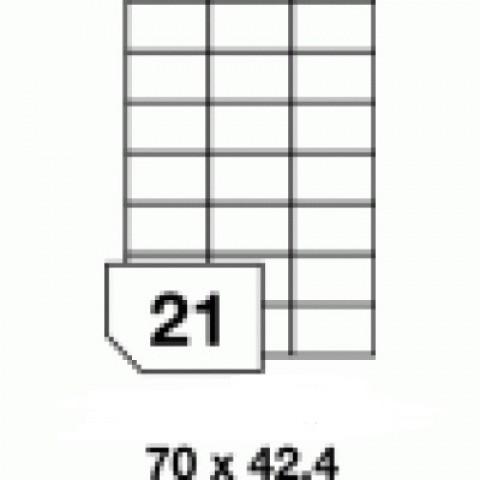Etichete autoadezive multifuncţionale, 21 buc./A4, dimensiune 70x42.4 mm