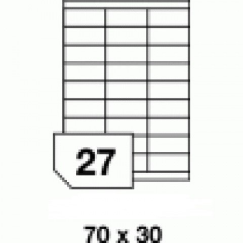 Etichete autoadezive multifuncţionale - 27 buc./A4, dimensiune 70x30 mm