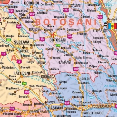 Romania - harta administrativa