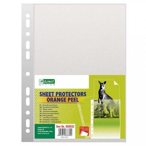 Folie protectie A4, 30 microni, 100/set, D.rect