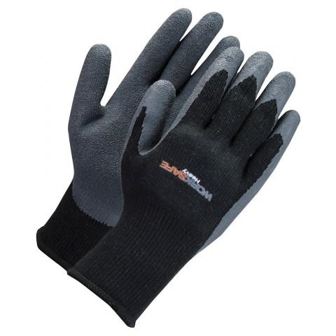 Mănuși acoperite cu latex, negru/gri, marimea 10, Worksafe