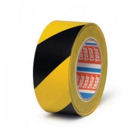 Banda adeziva de marcare, 50mmx33m, PVC, galben/negru