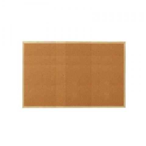 Panou afisaj pluta, 90*120 cm, profil lemn