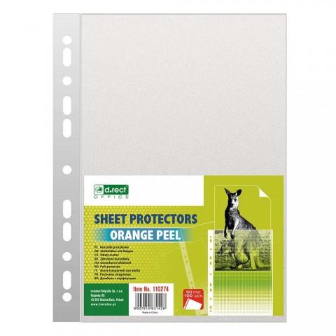 Folie protectie A4, 50 microni, 100/set, D.rect