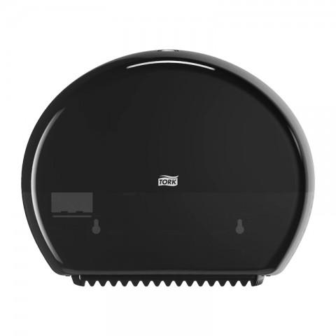 Dozator culoare neagra pentru hartie igienica , Mini Jumbo,Tork