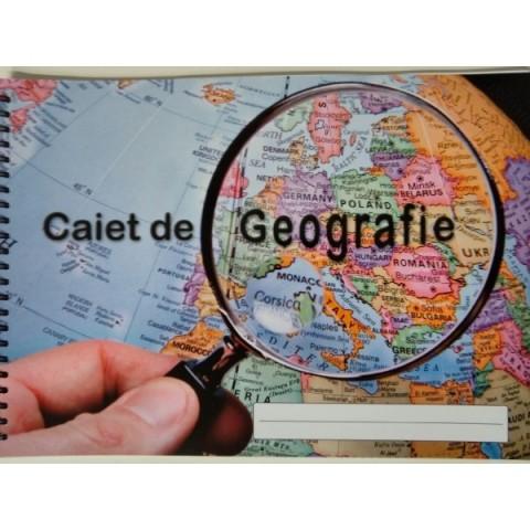 Caiet geografie A4, arc spirala