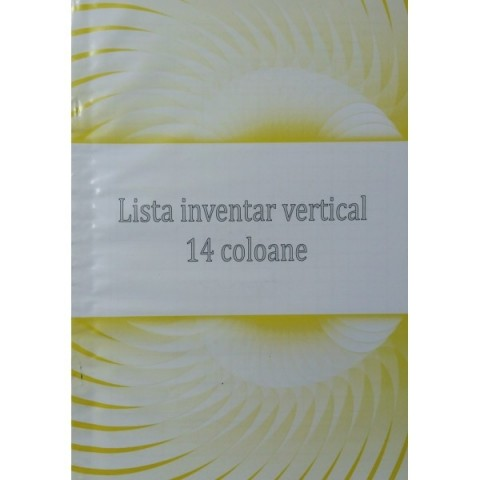 Lista inventar, 14 coloane, vertical