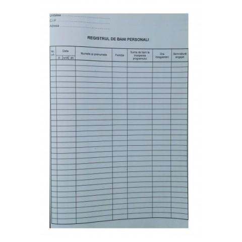 Registru de bani personali, offset