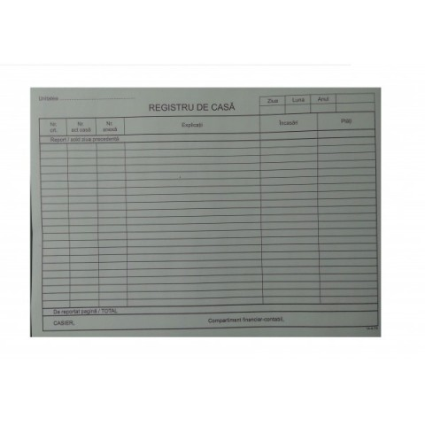Registru de casa autocopiativ, A4, model nou