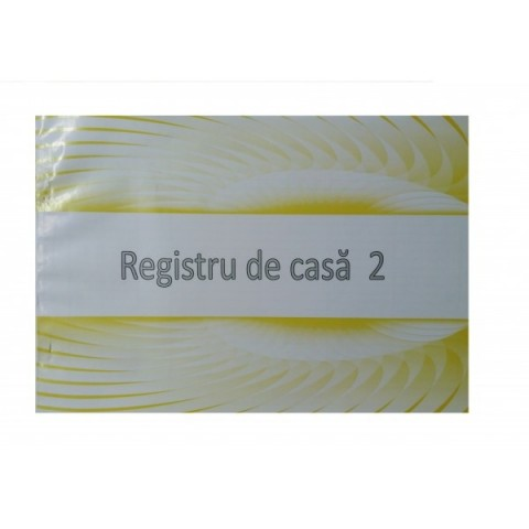 Registru de casa, offset, A4 model nou