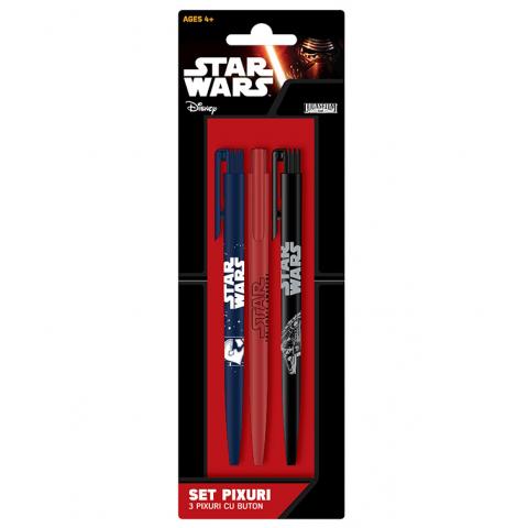 Set 3 pixuri cu buton, Star Wars, Ep.7