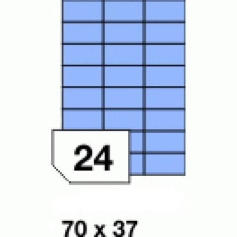 Etichete autoadezive colorate, albastru mat, 24 buc./A4