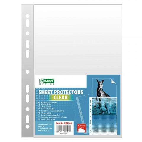 Folie protectie A4, 75 microni, 100/set, D.rect