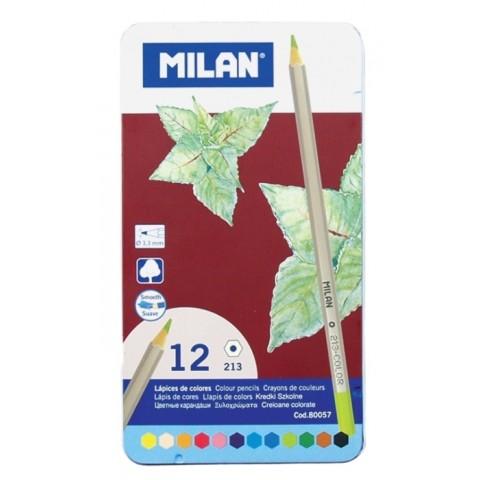 Creioane color, in cutie metalica, Milan