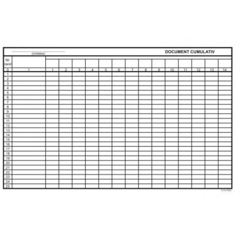 Document Cumulativ, A4, orizontal