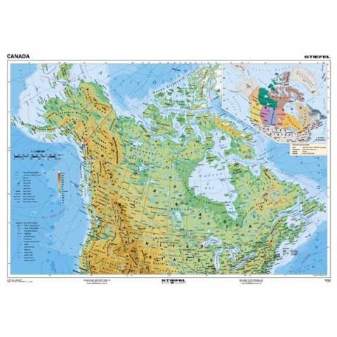 Canada harta fizico - geografică