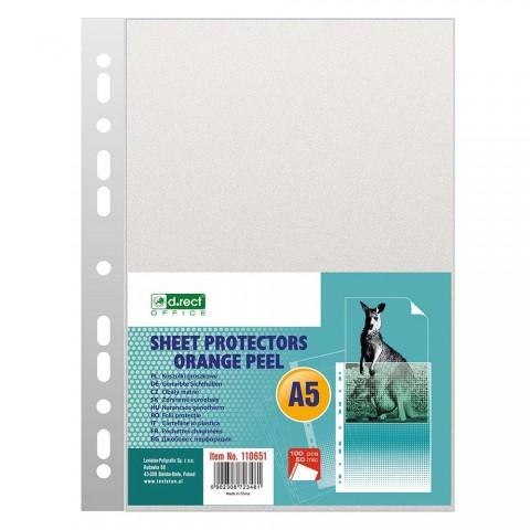 Folie protectie A5, 50 microni, 100/set, D.rect