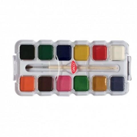 Acuarele 12 culori semi-uscate, Perinita, Daco
