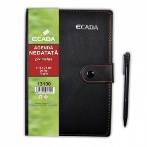 Agenda cu pix, 17.5x25 cm, Ecada
