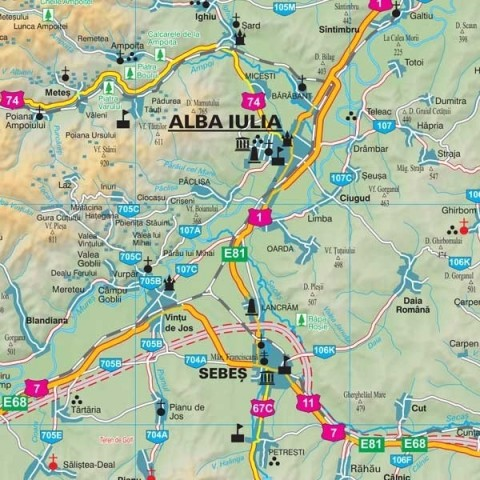 Harta - judeţul ALBA