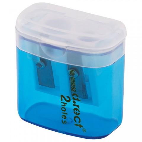 Ascutitoare plastic dubla cu rezervor, D.rect