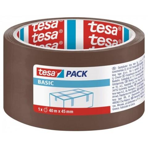 Banda adeziva, 40 mm x 45 m, Tesa Basic, maro