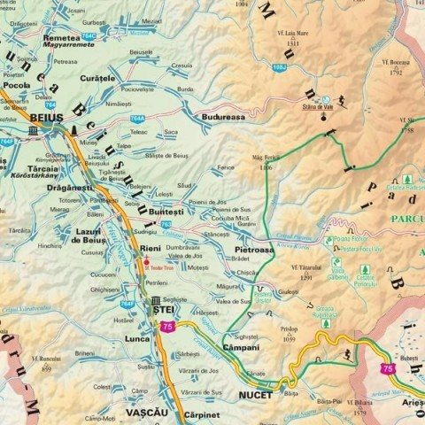 Harta - judeţul BIHOR