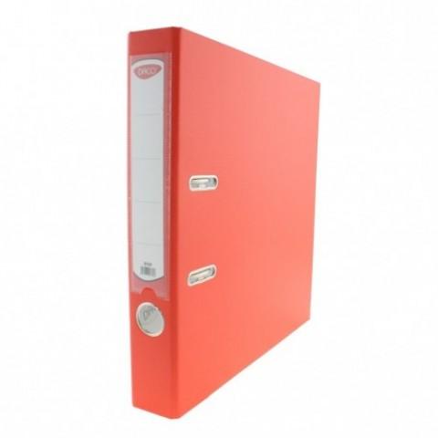 Biblioraft plastifiat, 50 mm, portocaliu, Daco