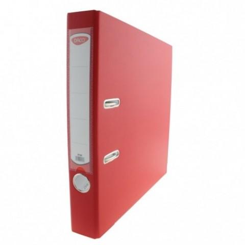 Biblioraft plastifiat, 50 mm, rosu, Daco