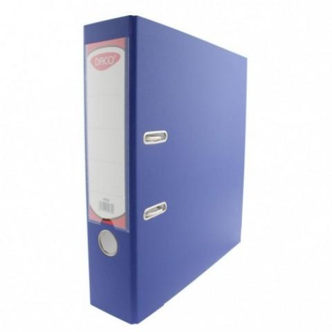 Biblioraft plastifiat, 75 mm, albastru, Daco