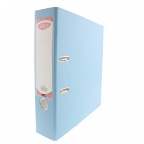 Biblioraft plastifiat, 75 mm, albastru deschis, Daco