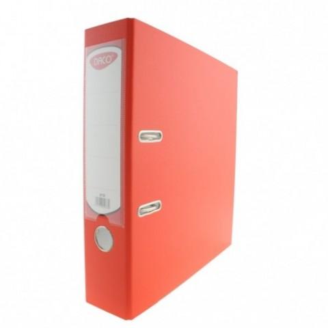 Biblioraft plastifiat, 75 mm, portocaliu, Daco