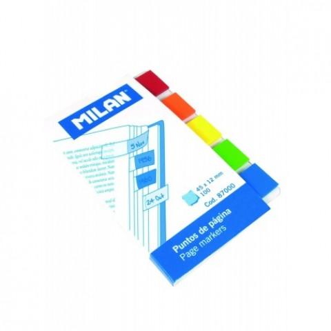 Bloc notes adeziv, index 5x45x12 mm, transparent, Milan