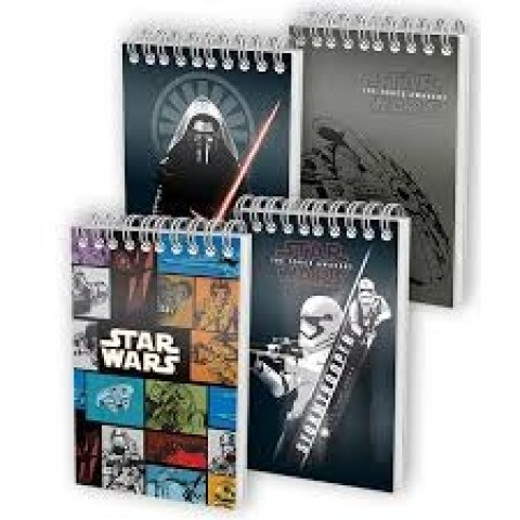 Bloc notes cu spira, A6, 70 file matematica, coperta 350g/mp, colectia Star Wars