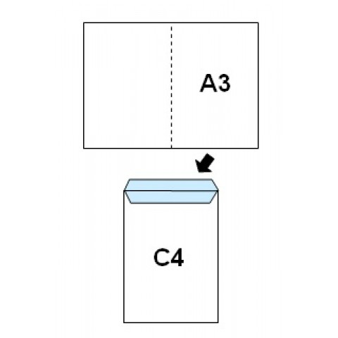 Plic C4, autoadeziv, 229 X 324 mm