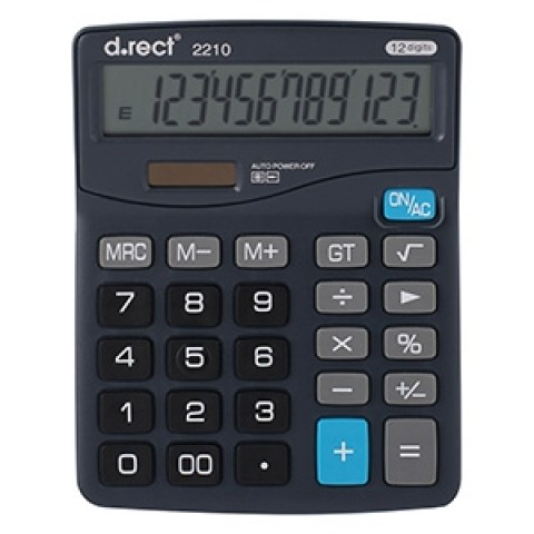 Calculator 12 digits D.rect 2210