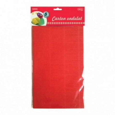 Carton ondulat, A4, 5 culori, 5 coli, Daco