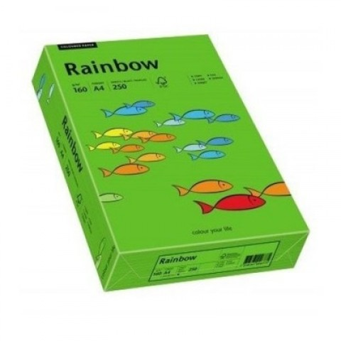 Hartie colorata, verde intens, A4, 160 g/mp, Rainbow