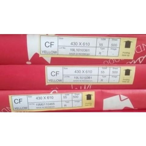 Hartie autocopiativa, CF GALBEN, 55 grame, 430x610 mm