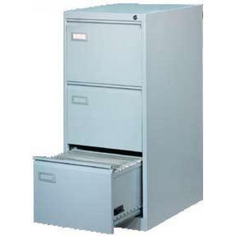 Clasificator metalic, 3 sertare, 620 x 460 x 1020 mm, gri, Ceha