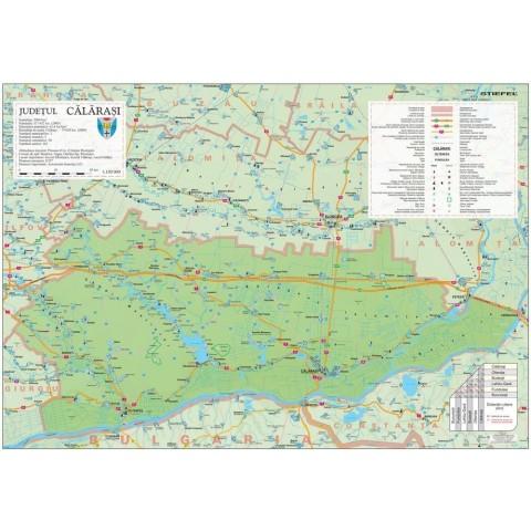 Harta - judeţul CĂLĂRAŞI