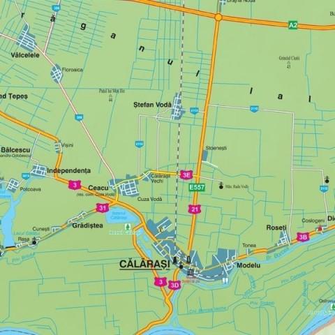 Harta - judeţul Calarasi