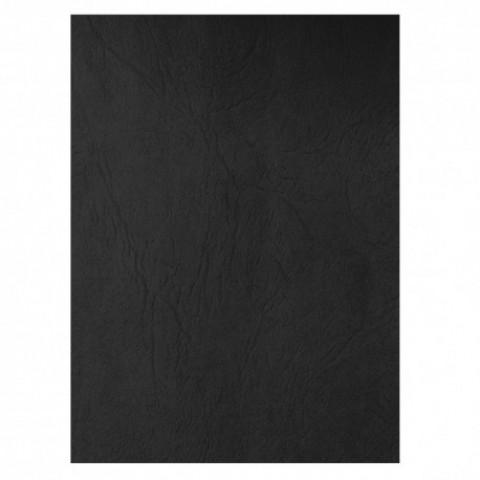 Coperta carton, imitatie piele, negru, Ecada