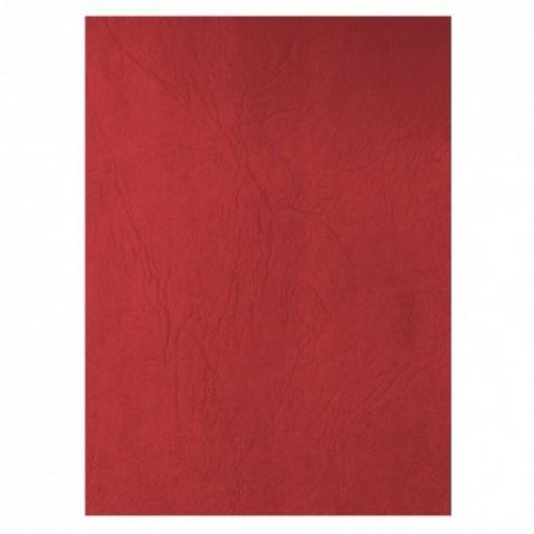 Coperta carton, imitatie piele, rosu, Ecada